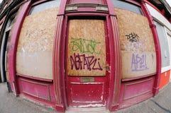 κλειστό κατάστημα κατασ&tau Στοκ εικόνα με δικαίωμα ελεύθερης χρήσης