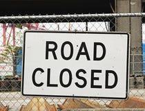 κλειστό οδικό σημάδι Στοκ Φωτογραφία