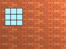 κλειστό τούβλο παράθυρο τοίχων δικτυωτού πλέγματος Στοκ Εικόνες
