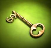 κλειδί για τον πλούτο Στοκ φωτογραφία με δικαίωμα ελεύθερης χρήσης