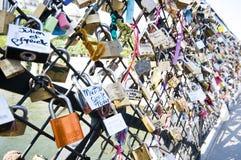 κλειδώματα γεφυρών Στοκ Φωτογραφίες