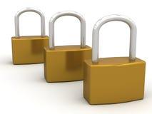 Κλειδώματα μαξιλαριών Στοκ φωτογραφία με δικαίωμα ελεύθερης χρήσης