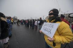 ΚΛΕΜΜΕΝΗ ΔΙΚΑΙΟΣΥΝΗ - διεθνής διαμαρτυρία Στοκ Φωτογραφίες