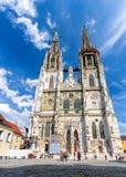 κληρονομιά της Γερμανίας καθεδρικών ναών της Βαυαρίας παλαιά πόλης κόσμος περιοχών του Ρέγκενσμπουργκ stadtamhof Στοκ Εικόνες