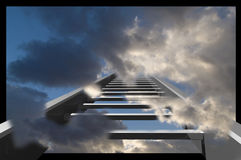 κλιμακοστάσιο ουρανού Στοκ φωτογραφία με δικαίωμα ελεύθερης χρήσης