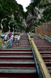 Κλιμακοστάσιο στους ναούς σπηλιών Batu Στοκ Φωτογραφίες