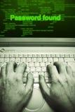 κλοπή κωδικού πρόσβασης Στοκ Φωτογραφία