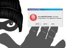 κλοπή ταυτότητας διανυσματική απεικόνιση