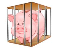 κλουβί τραπεζών piggy Στοκ φωτογραφία με δικαίωμα ελεύθερης χρήσης
