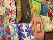 Κλωστοϋφαντουργικό προϊόν εγχώριων ντεκόρ κάλυψης μαξιλαριών κάλυψης μαξιλαριών ταπετσαριών Στοκ Εικόνες
