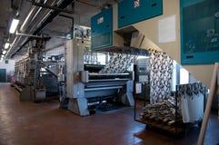 κλωστοϋφαντουργικό προϊόν εκτύπωσης φυτών βιομηχανίας Στοκ Φωτογραφία