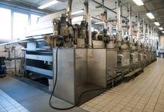 κλωστοϋφαντουργικό προϊόν εκτύπωσης φυτών βιομηχανίας Στοκ φωτογραφία με δικαίωμα ελεύθερης χρήσης