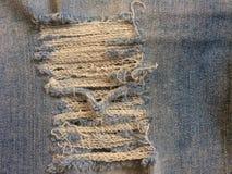 Κλωστοϋφαντουργικό προϊόν του τζιν παντελόνι, το του προσώπου δέρμα του τζιν στοκ φωτογραφία με δικαίωμα ελεύθερης χρήσης
