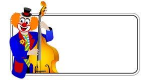 κλόουν bassist ενάντιος Στοκ φωτογραφία με δικαίωμα ελεύθερης χρήσης