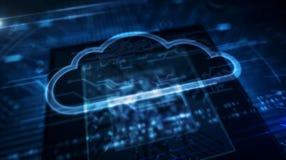 ΚΜΕ εν πλω με την επίδειξη ολογραμμάτων σύννεφων απεικόνιση αποθεμάτων