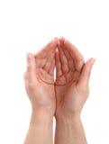 κοίλα χέρια Στοκ φωτογραφίες με δικαίωμα ελεύθερης χρήσης