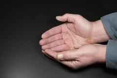 κοίλα χέρια Στοκ εικόνες με δικαίωμα ελεύθερης χρήσης