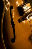 κοίλη τζαζ κιθάρων σωμάτων Στοκ Εικόνες