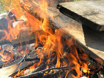 κοίλωμα πυρκαγιάς Στοκ φωτογραφίες με δικαίωμα ελεύθερης χρήσης