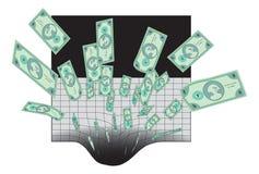 κοίλωμα χρημάτων Στοκ φωτογραφία με δικαίωμα ελεύθερης χρήσης