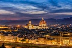 Κοίταγμα πέρα από τη Φλωρεντία στο Duomo στη Φλωρεντία Στοκ εικόνες με δικαίωμα ελεύθερης χρήσης