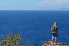 Κοίταγμα πέρα από τον ωκεανό Στοκ εικόνα με δικαίωμα ελεύθερης χρήσης