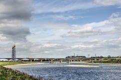 Κοίτες πλημμυρών κοντά στο Nijmegen στοκ φωτογραφία