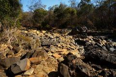 Κοίτη ποταμού ξηρών πετρών, Ankarana Μαδαγασκάρη Στοκ εικόνα με δικαίωμα ελεύθερης χρήσης