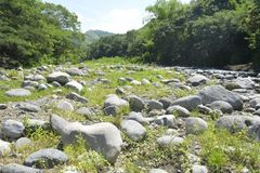 Κοίτη ποταμού Ruparan που βρίσκεται σε barangay Ruparan, πόλη Digos, Davao del Sur, Φιλιππίνες στοκ φωτογραφία με δικαίωμα ελεύθερης χρήσης