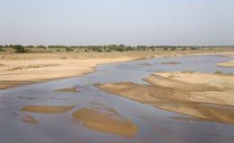 Κοίτη του ποταμού Mayurakshi Στοκ Εικόνα