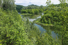 Κοίτη του ποταμού Psel στοκ φωτογραφία με δικαίωμα ελεύθερης χρήσης