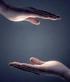κοίλα χέρια Στοκ φωτογραφία με δικαίωμα ελεύθερης χρήσης