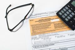 Κοίλωμα φορολογικής δήλωσης Στοκ Φωτογραφίες