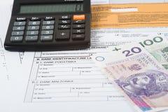 Κοίλωμα φορολογικής δήλωσης Στοκ Εικόνα
