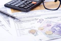 Κοίλωμα φορολογικής δήλωσης Στοκ Εικόνες