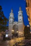 Κοβάλτιο-καθεδρικός ναός του Λα Redonda της Σάντα Μαρία de Logroño, Ισπανία Στοκ φωτογραφίες με δικαίωμα ελεύθερης χρήσης