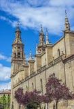 Κοβάλτιο-καθεδρικός ναός του Λα Redonda της Σάντα Μαρία de Logroño, Ισπανία Στοκ εικόνες με δικαίωμα ελεύθερης χρήσης