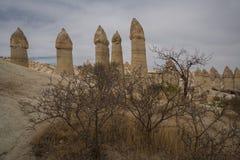 Κοιλάδα αγάπης Μοναδική γεωλογική ερωτευμένη κοιλάδα σχηματισμών σε Cappadocia, δημοφιλής προορισμός ταξιδιού στην Τουρκία στοκ φωτογραφία