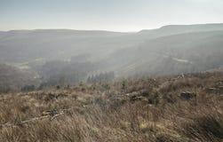 Κοιλάδα αναγνωριστικών σημάτων Brecon στην υδρονέφωση πρωινού στοκ εικόνα με δικαίωμα ελεύθερης χρήσης