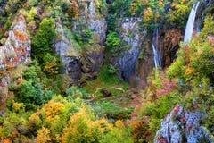 κοιλάδα βουνών φθινοπώρο Στοκ Εικόνα