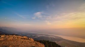 Κοιλάδα βουνών Smokey Στοκ εικόνες με δικαίωμα ελεύθερης χρήσης