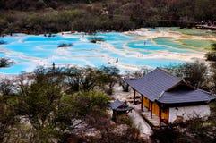 κοιλάδα δράκων της Κίνας huanglong κίτρινη Στοκ φωτογραφία με δικαίωμα ελεύθερης χρήσης