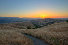 κοιλάδα ηλιοβασιλέματ&omic στοκ φωτογραφία