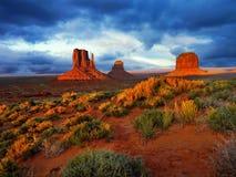 Κοιλάδα Ηνωμένων, ΗΠΑ, Αμερική μνημείων, Αριζόνα Γιούτα στοκ εικόνες με δικαίωμα ελεύθερης χρήσης