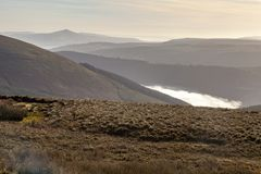 κοιλάδα ομίχλης στοκ φωτογραφίες με δικαίωμα ελεύθερης χρήσης
