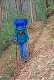 κοιλάδα πεζοπορίας cataloochee Στοκ φωτογραφίες με δικαίωμα ελεύθερης χρήσης
