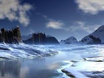 κοιλάδα ποταμών πάγου Στοκ εικόνες με δικαίωμα ελεύθερης χρήσης