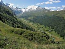 Κοιλάδα ποταμών στο ανώτερο Engadine, Ελβετία Στοκ Φωτογραφίες