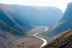 Κοιλάδα ποταμών Chulyshman, Δημοκρατία Altai, Σιβηρία, Ρωσία στοκ εικόνα