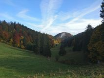 Κοιλάδα στο Jura Στοκ Εικόνες